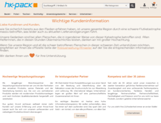hkpack.de screenshot
