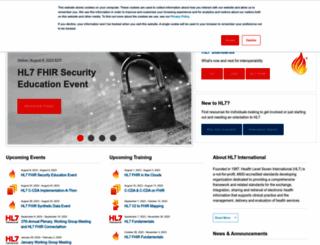 hl7.org screenshot