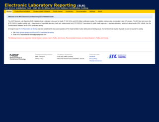 hl7v2-elr-testing.nist.gov screenshot