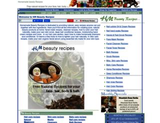 hmbeautyrecipes.homestead.com screenshot