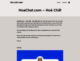 hoachat.com screenshot