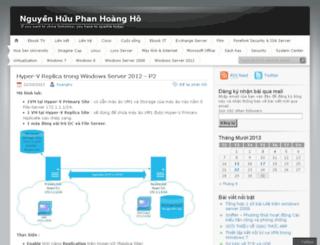 hoangho.wordpress.com screenshot