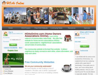 hoasonline.com screenshot