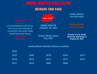 hobbymastercollector.com screenshot