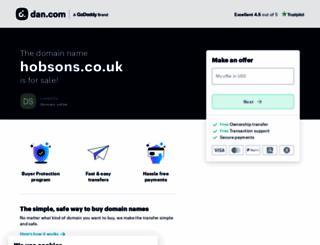 hobsons.co.uk screenshot