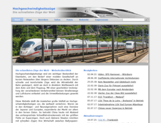 hochgeschwindigkeitszuege.com screenshot