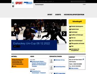 hochschulsport.rwth-aachen.de screenshot