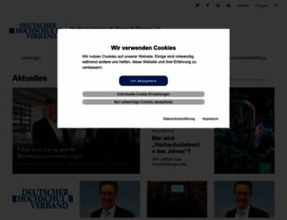 hochschulverband.de screenshot