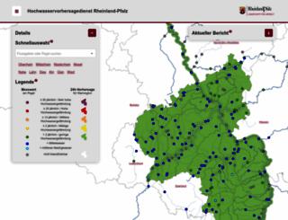 hochwasser-rlp.de screenshot