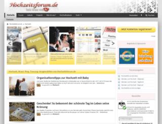 hochzeitsforum.de screenshot