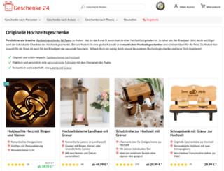 hochzeitsgeschenke.org screenshot