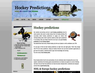 hockey-predictions.com screenshot