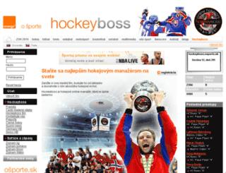 hockeyboss.osporte.sk screenshot