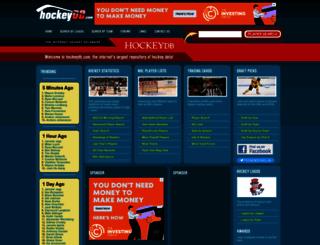 hockeydb.com screenshot
