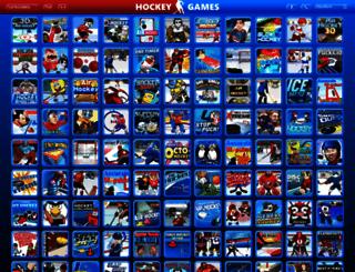 hockeygames.org screenshot
