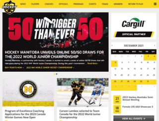 hockeymanitoba.ca screenshot
