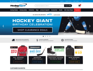 hockeyoverstock.com screenshot