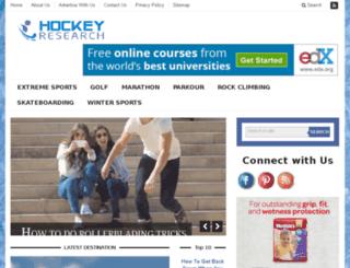 hockeyresearch.com screenshot