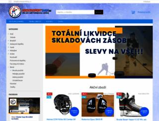 hockeysportshop.cz screenshot