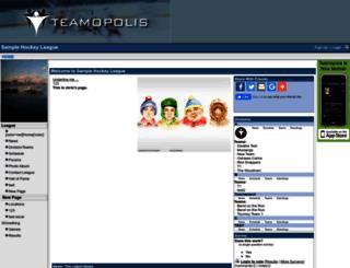 hockeytest.teamopolis.com screenshot