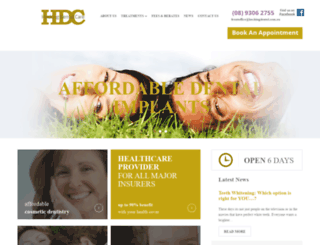 hockingdental.com.au screenshot