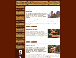 hockinghillscabins-lodges.com screenshot