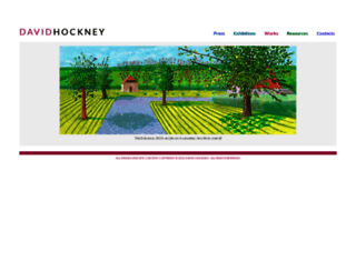 hockneypictures.com screenshot