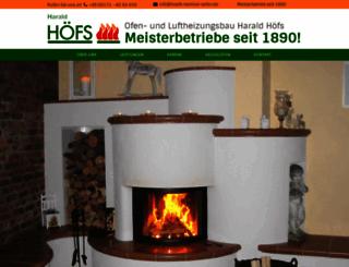 hoefs-kamine-oefen.de screenshot