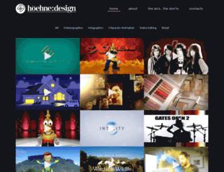 hoehne-design.com screenshot