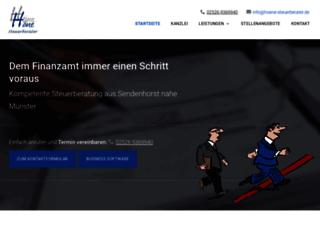 hoene-steuerberater.de screenshot