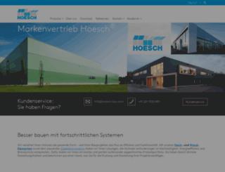 hoesch-bau.com screenshot