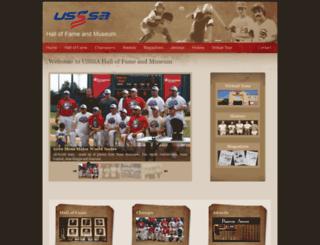 hof.usssa.com screenshot