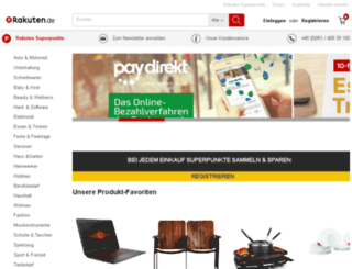 hoffer-druckerzubehoer.rakuten-shop.at screenshot