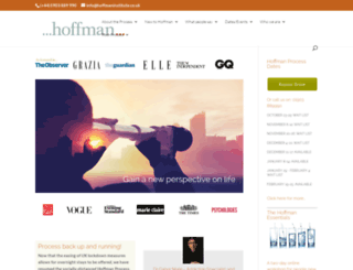 hoffmaninstitute.co.uk screenshot