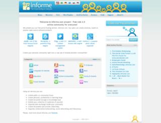 hoganinfor.informe.com screenshot