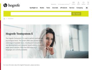 hogrefe-testsystem.com screenshot