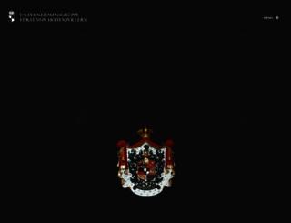 hohenzollern.com screenshot