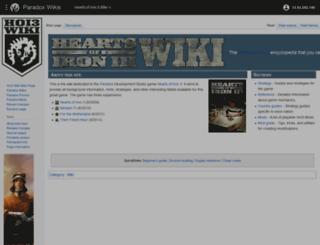 hoi3wiki.com screenshot