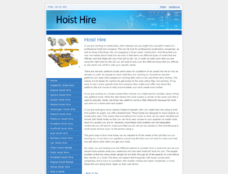 hoist-hire.co.uk screenshot