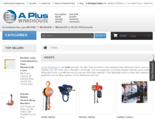 hoists.apluswhs.com screenshot
