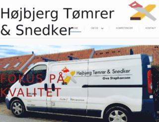 hojbjergtomrer.dk screenshot