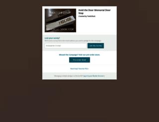 hold-the-door-memorial-door-stop.backerkit.com screenshot
