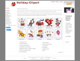 holiday-clipart.com screenshot
