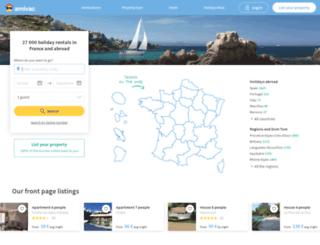holiday-rentals.amivac.com screenshot