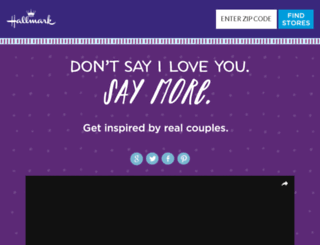holiday.hallmark.com screenshot