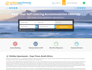 holidayapartments.co.za screenshot