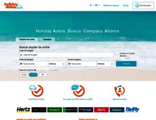 holidayautos.es screenshot
