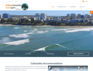 holidaycaloundra.com.au screenshot