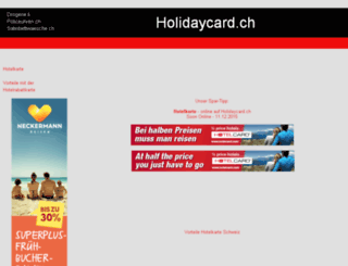 holidaycard.ch screenshot