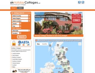 holidaycottages.net screenshot